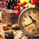 alarm clock and autumn symbols - PhotoDune Item for Sale