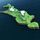 Island Sakhalin - 3DOcean Item for Sale