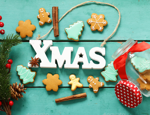 Gingerbread Christmas  - Stock Photo - Images