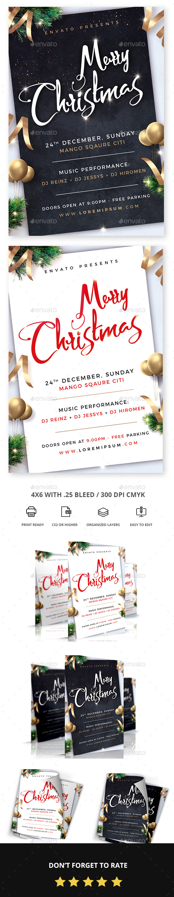 GraphicRiver Christmas Flyer 20989826