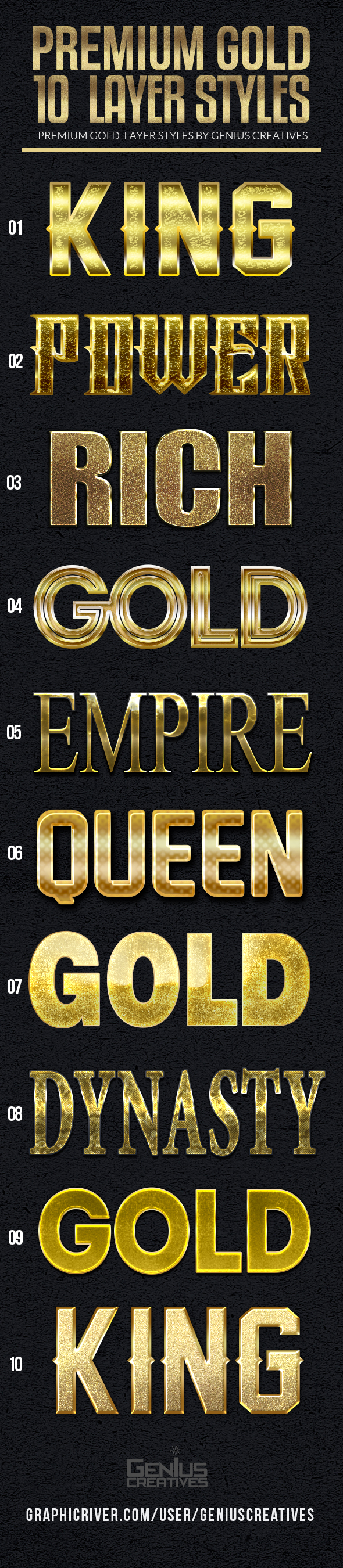 GraphicRiver 10 Premium Gold Text Styles 20989932
