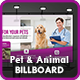 Pet Care Billboard Template