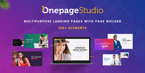 ThemeForest Onepage Studio Multipurpose Landing Page with Page Builder 20868344
