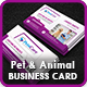 Pet Care Business Card Template - GraphicRiver Item for Sale