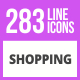 283 Shopping Line Icons