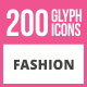 200 Fashion Glyph Icons