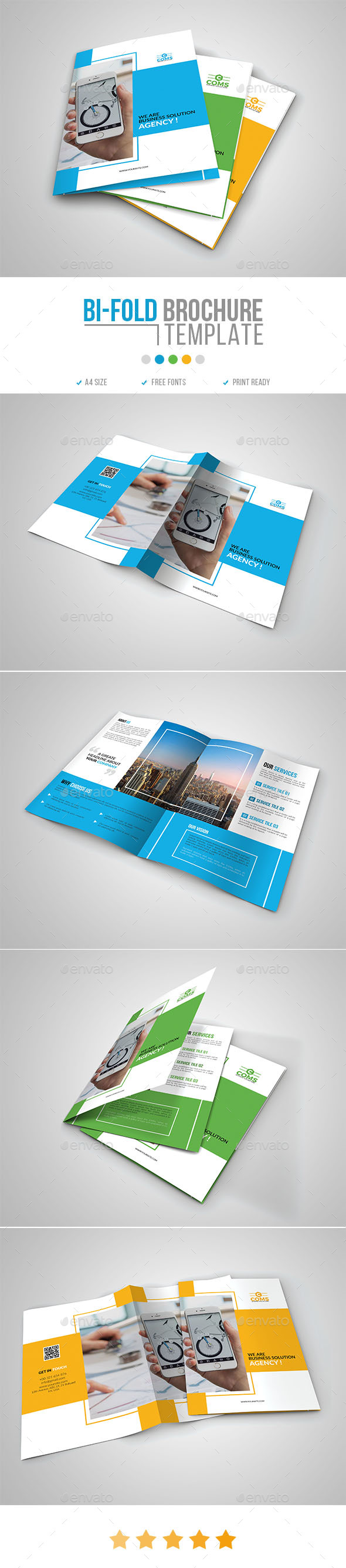 Corporate Bi-Fold Brochure Template 10 - Corporate Brochures