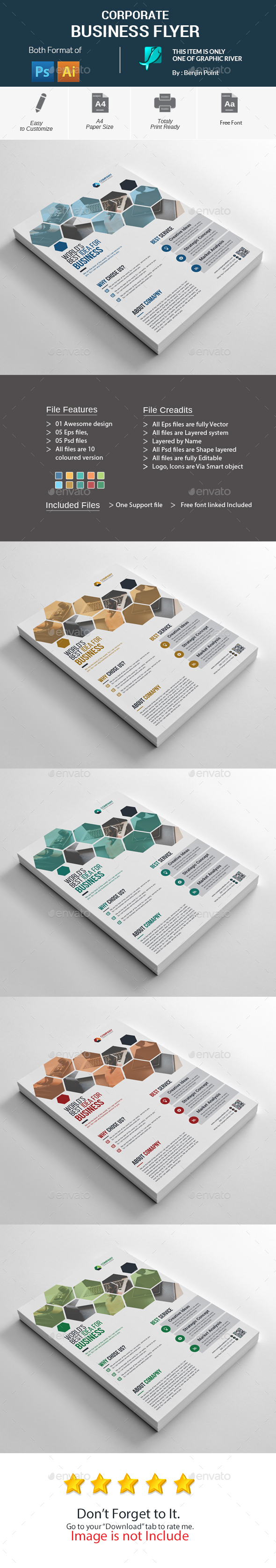 GraphicRiver Corporate Business Flyer 20990150