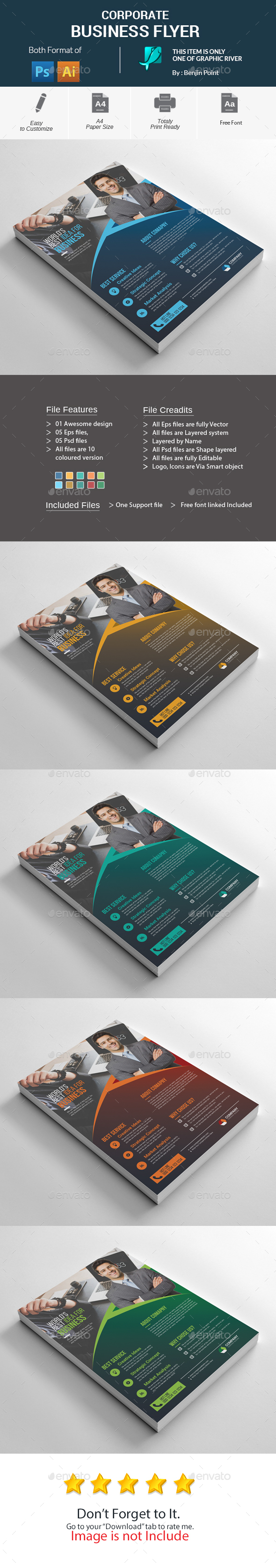 GraphicRiver Corporate Business Flyer 20990152