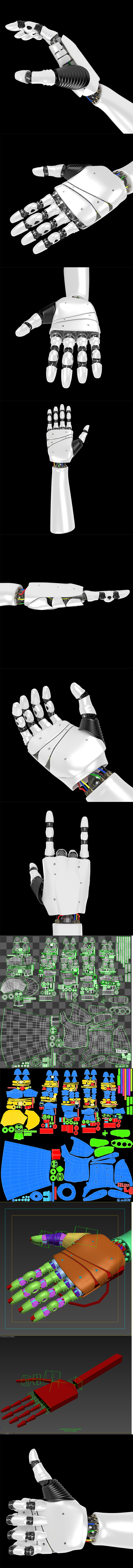Robot Hand rigged - 3DOcean Item for Sale