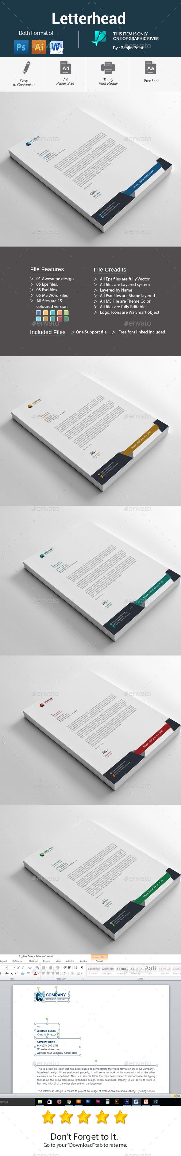 GraphicRiver Letterhead 20990155