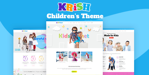 Krish | Kids School, Kids Education Theme            nulled
