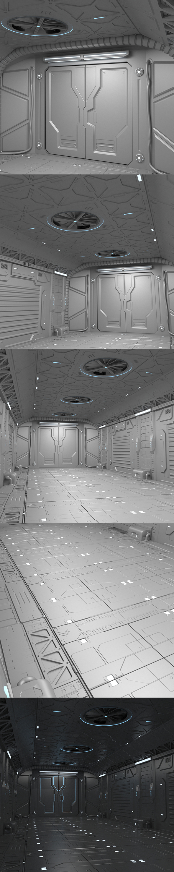 Sci-Fi hall environment - 3DOcean Item for Sale