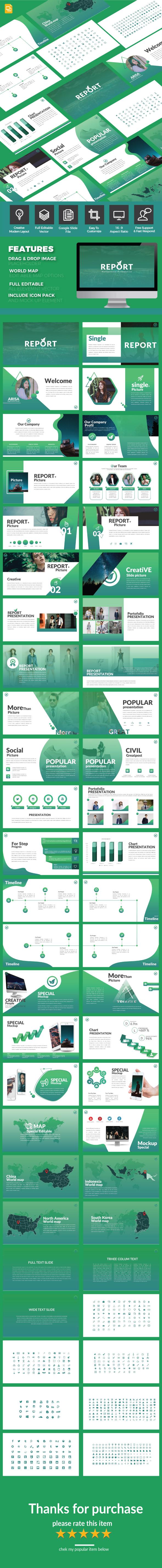 Report - Google Slide Multipurpose Template - Google Slides Presentation Templates