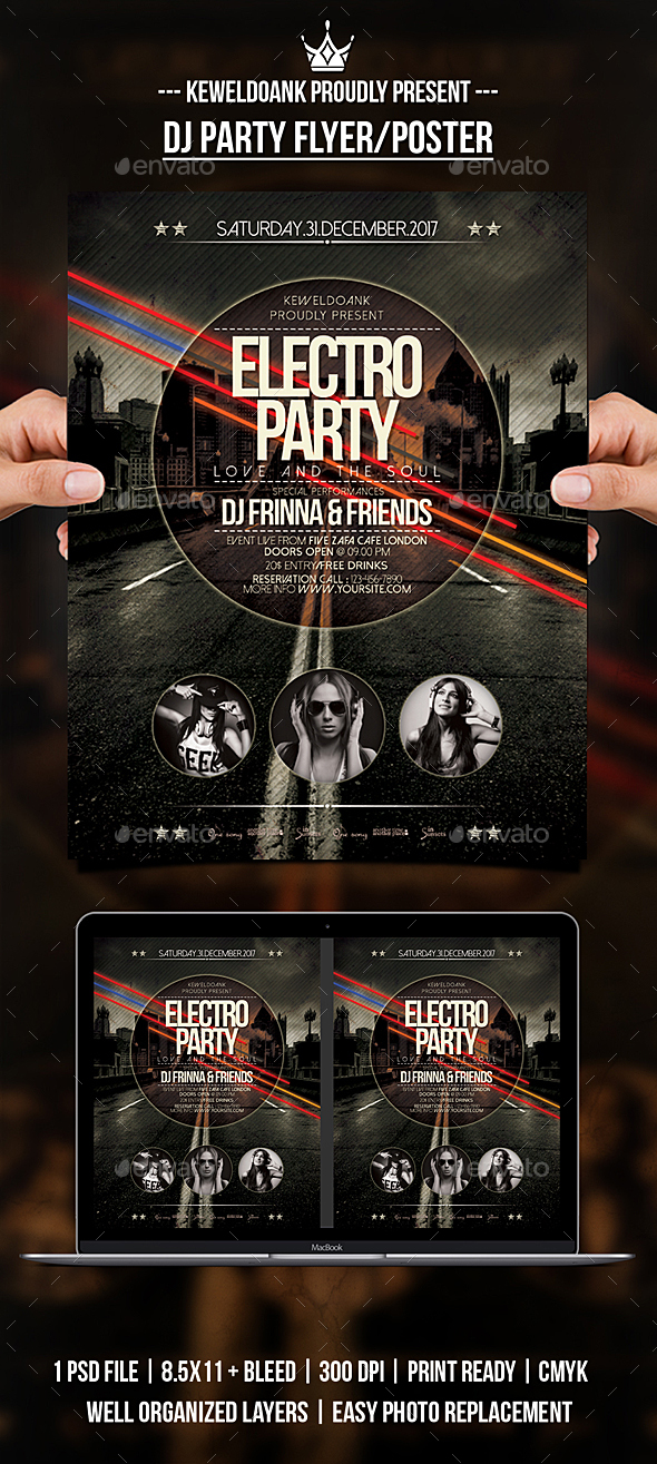 GraphicRiver Dj Party Flyer Poster 20990213