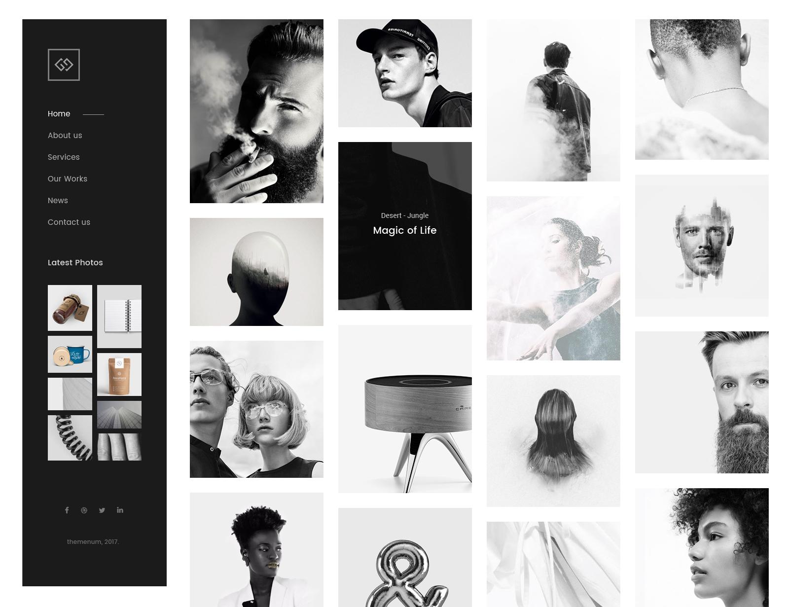 BAB - Creative Minimal Portfolio & Agency PSD Template by themenum