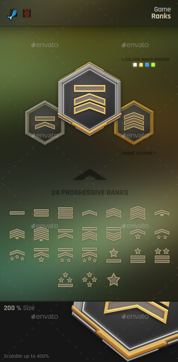 GraphicRiver Game Rank Badges 20990256