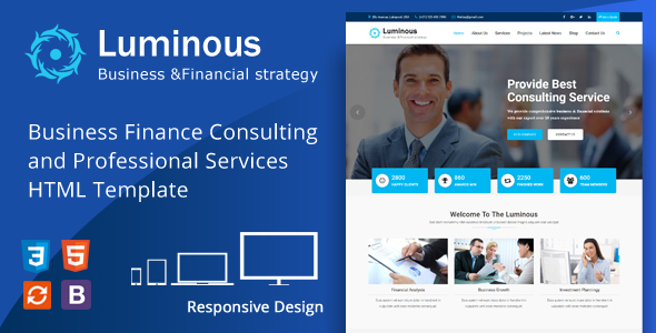 Luminous – Business Financial Consulting & Professional Services HTML Template            nulled