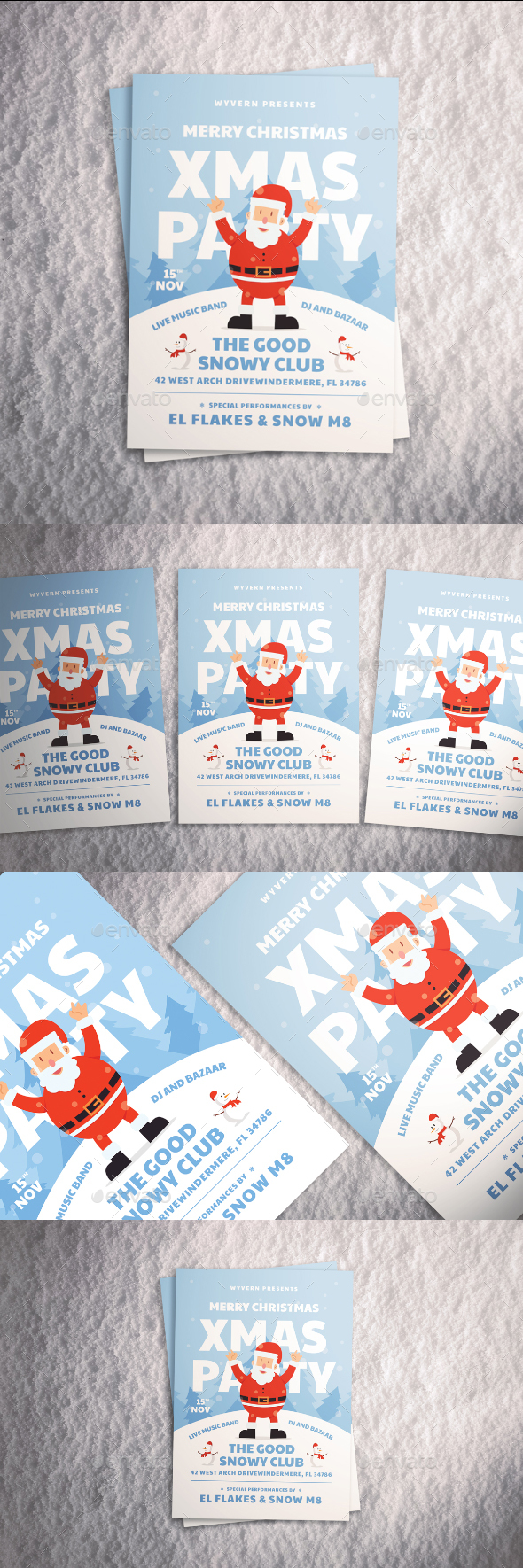 GraphicRiver Christmas Party Flyer 20990375