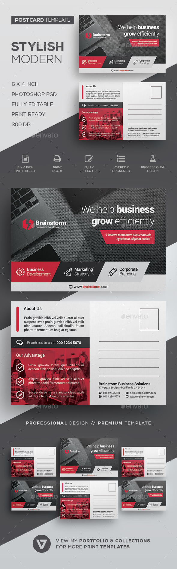 GraphicRiver Postcard Template 20990382