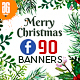 90 Christmas Facebook Promotion Banners