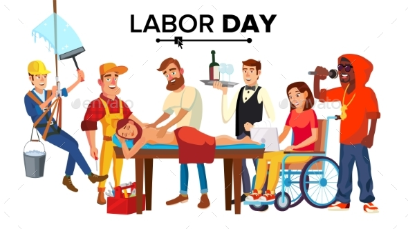 GraphicRiver Labor Day Vector 20990494