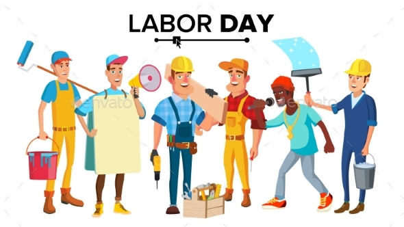 Labor Day Vector - Industries Business