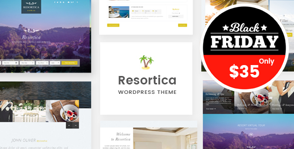 Resortica   Hotel WordPress Theme