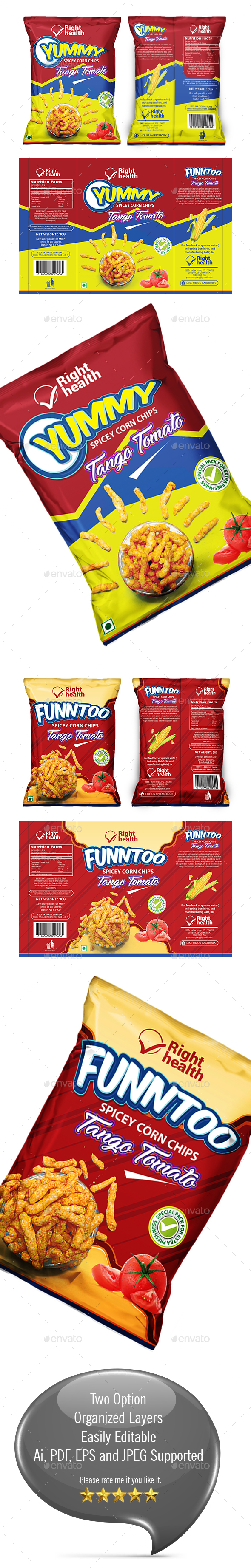GraphicRiver Snacks Packaging Template 20990645