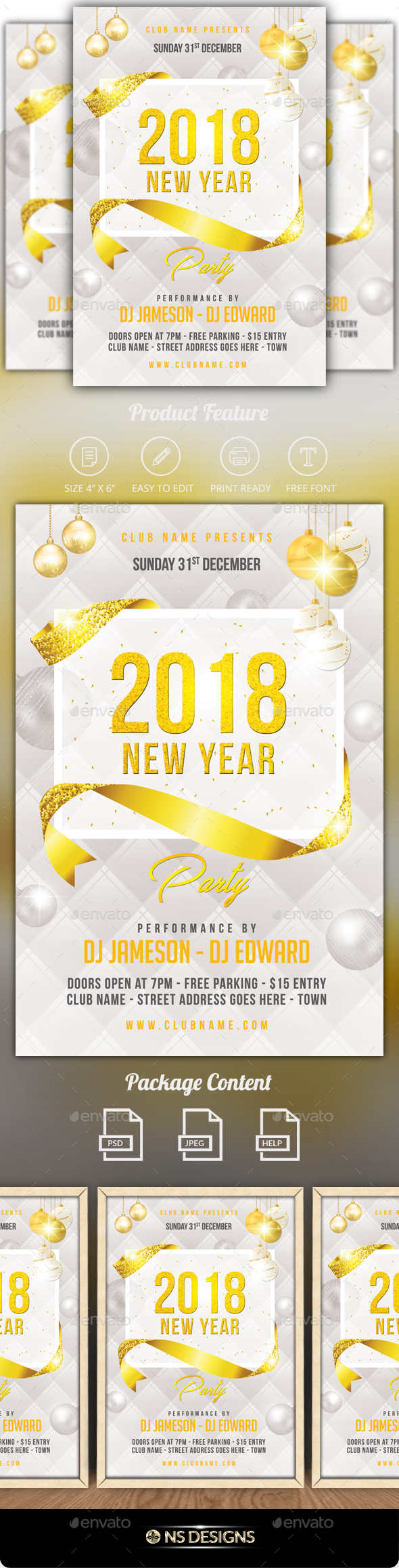 GraphicRiver New Year Flyer 20990721
