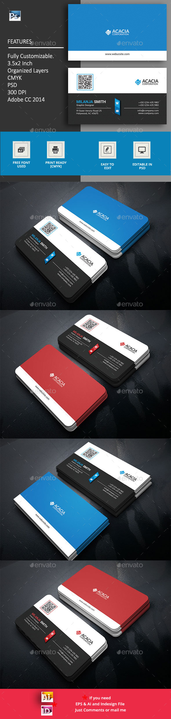 Scena Business Card - Corporate Business Cards