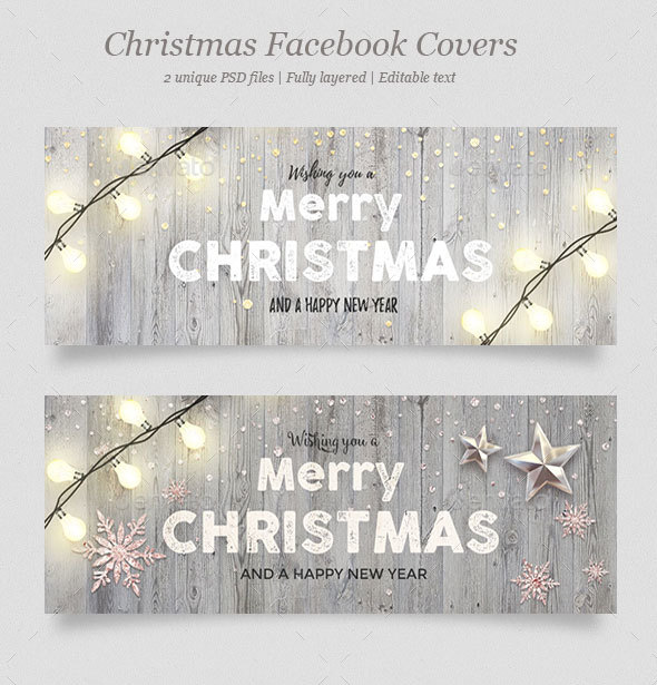 GraphicRiver 2 Christmas Facebook Covers Vol.4 20990844