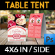 Cupcake Table Tent Template - GraphicRiver Item for Sale