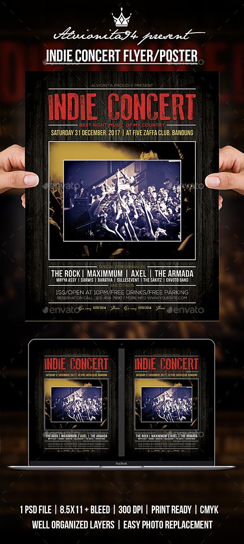 Indie Concert Flyer / Poster - Concerts Events