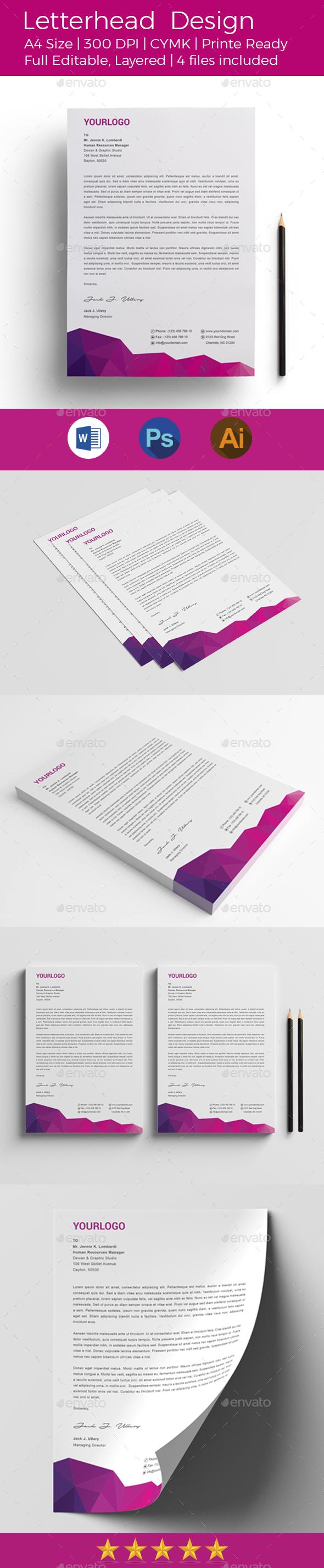 Letterhead Design - Stationery Print