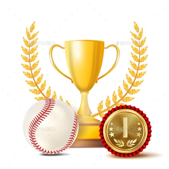 GraphicRiver Baseball Achievement Award Vector 20991125