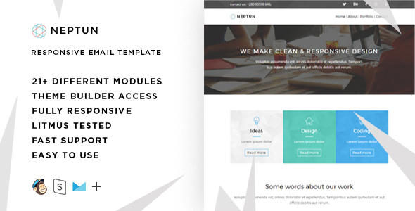 Neptun - Responsive Email + StampReady Builder - Email Templates Marketing