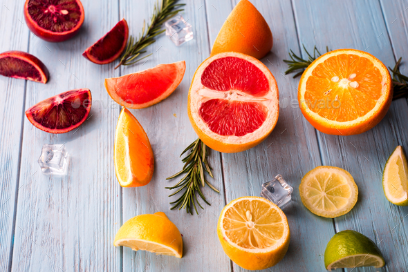 Sliced citrus fruit - Stock Photo - Images