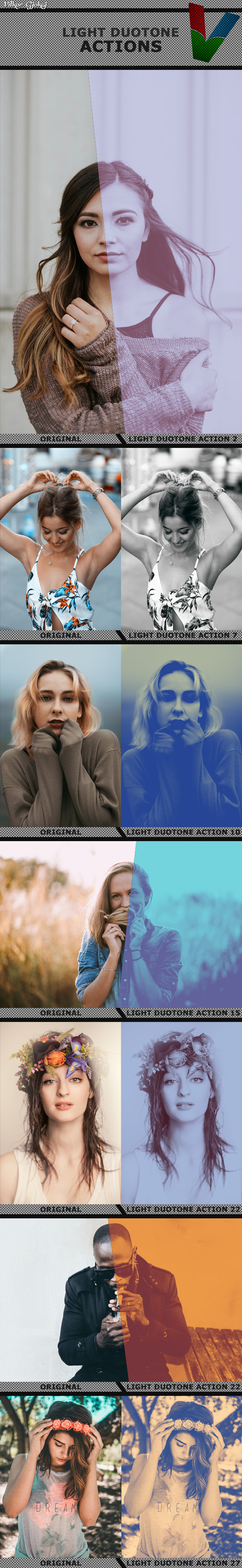 Duotone Actions - Photo Effects Actions