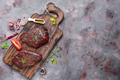 Raw uncooked beef steak meat