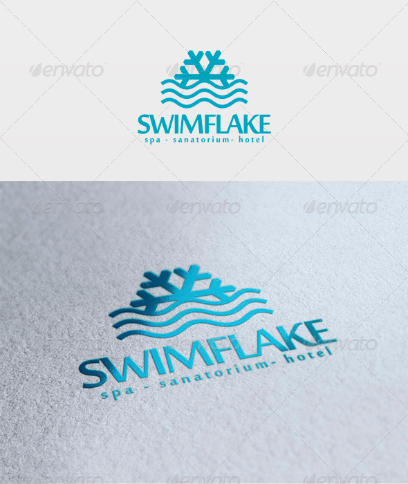 Swim Flake Logo - Symbols Logo Templates