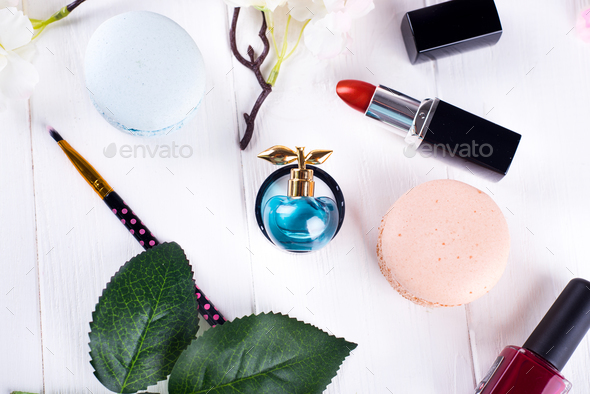 perfume and cosmetics - Stock Photo - Images