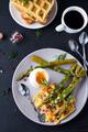 boiled egg and asparagus