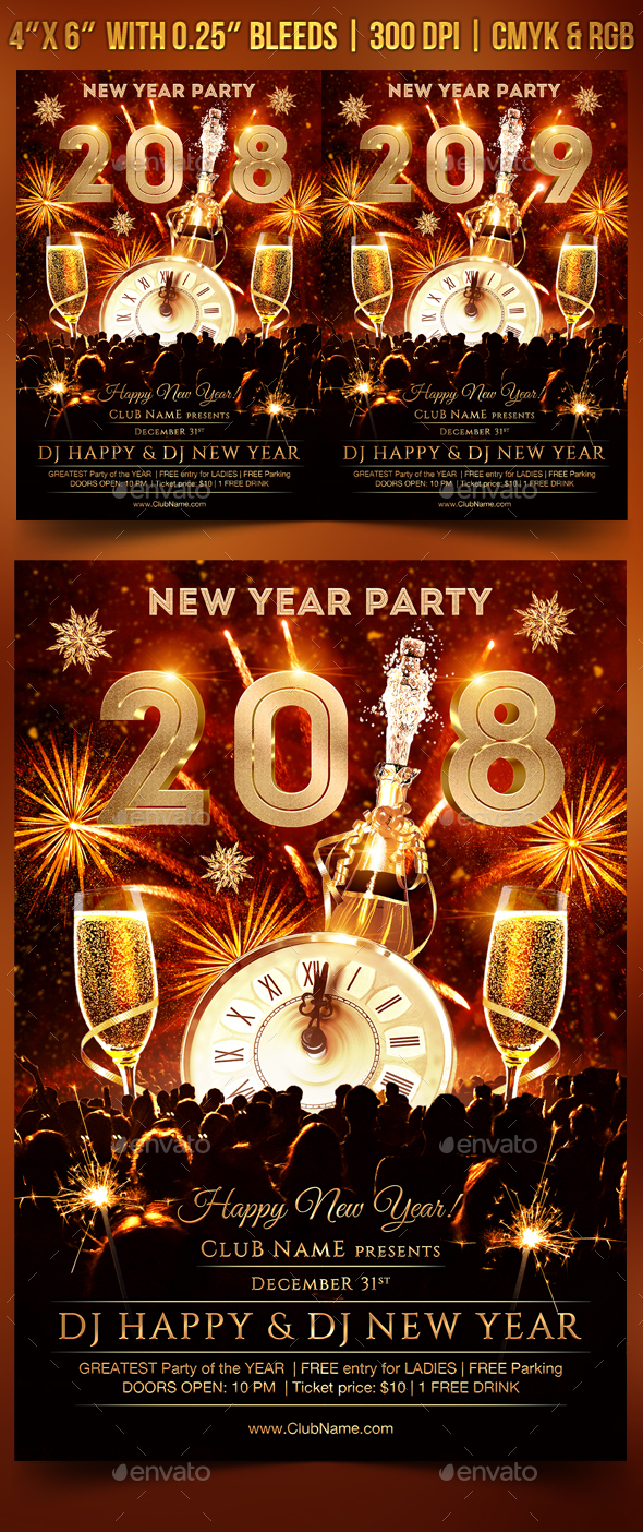GraphicRiver New Year Party Flyer 20991696
