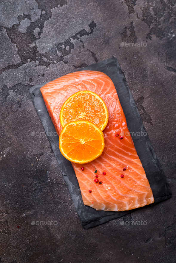 Salmon fillet a - Stock Photo - Images