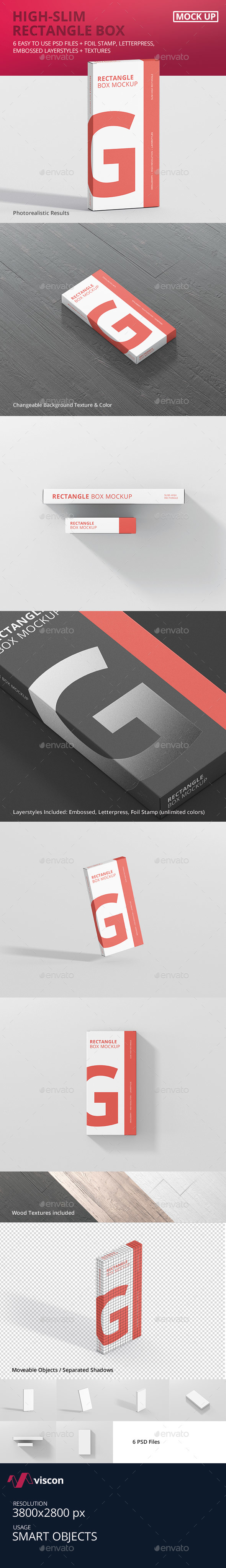 GraphicRiver Box Mockup High Slim Rectangle 20991708