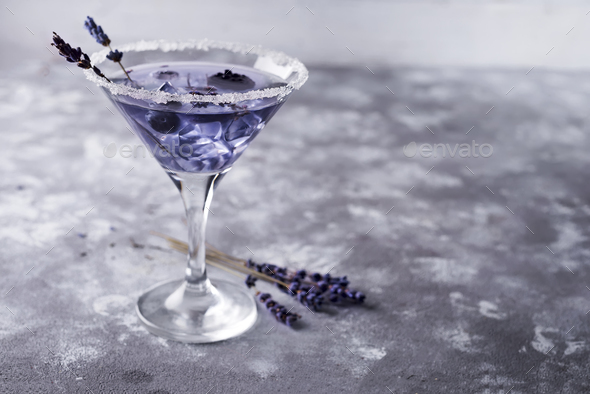 martini with berries - Stock Photo - Images