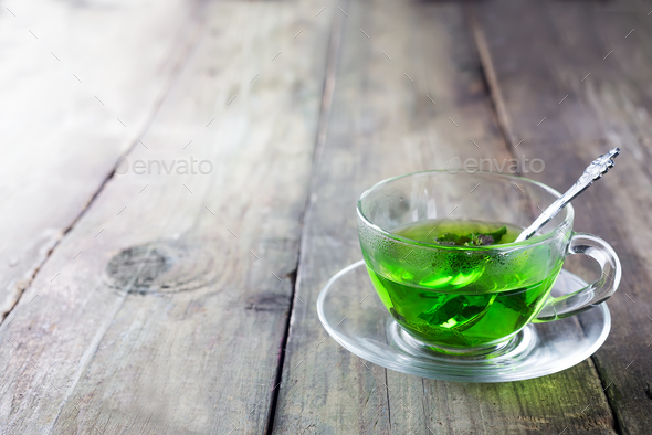 Moroccan tea with mint leaves - Stock Photo - Images