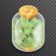 Isometric Glass Pot Jar Money Saving Bank Coin