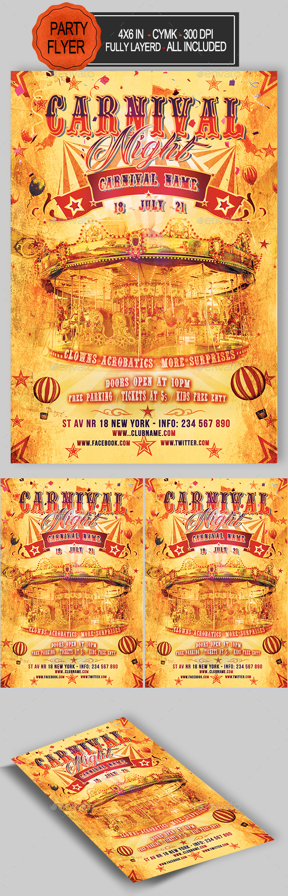 GraphicRiver Carnival Flyer 20991810